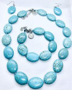 TURQUOISE SET - CavaWoman Green Turquoise, Turquoise Jewelry, Gemstone Jewelry, Turquoise Bracelet, Solar System Bracelet, Jewelry Tags, Pink Quartz, Stone Pendants, Stones And Crystals