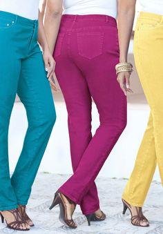 ba0b5177259d Plus Size Straight Leg Jeans by Denim 24/7. Roman Clothes, Stylish Plus