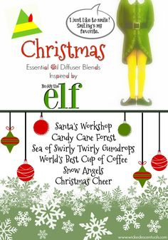 Christmas Essential Oil Diffuser Blends Inspired by Buddy the Elf | Wicked Escentuals