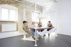 Add a Little Extra Fun to Your Dinner Time with the Swing Table | http://www.designrulz.com/product-design/2012/09/add-a-little-extra-fun-into-dinner-time-with-the-swing-table/