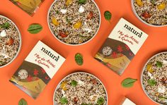 Natura's Label Design Brings Us That Much Closer To Nature | Dieline - Design, Branding & Packaging Inspiration Cereal Packaging, Food Packaging, Brand Packaging, Quinoa, Label Design, Package Design, Closer To Nature, Packaging Design Inspiration, Cute Food