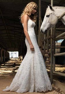 More lace...beautiful! I need to find me a horse before the wedding:)