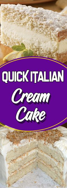 Quick Italian Cream Cake : yummymommies