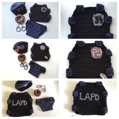 Newborn Police Officer Set policeman outfit police by SueStitch