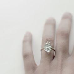 Image of Aquamarine Rock ring