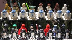Made a Star Wars LEGO Chess set for my son's 10th birthday