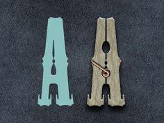"""Clothespin """"A""""."""