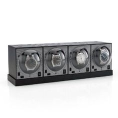 Set of 4 Brick Watch Winders with Power Base Brookstone. $199.99