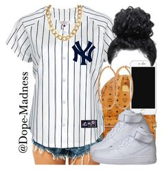"""Feeling Myself /// Nicki Minaj"" by dope-madness ❤ liked on Polyvore featuring MCM, NIKE and Henri Bendel"