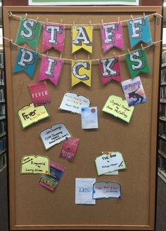 """""""Staff Picks"""" #bookdisplay at the Paseo Verde Library in Henderson, NV."""