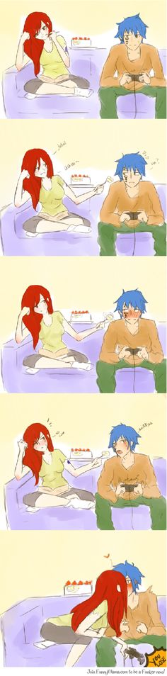 That's right, there is no way erza would share her cake :)