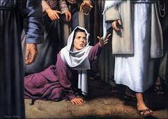 "34 He said to her, ""Daughter, your faith has healed you. Go in peace and be freed from your suffering."" Mark 5:25."