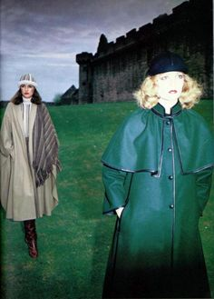 Hanae Mori Manteau cape, Louis Féraud Manteau, L'officiel magazine 1978