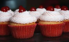 Cherry Almond Cupcakes. See more on my instagram page @ macpherson184