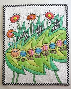 forget piecing or applique ... just pull out the crayons!!  :)