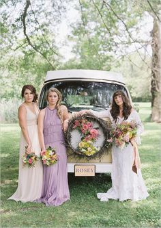These days the flower child is a rose colored memory, but these Rosey Wedding Reception Ideas will show you just how vintage fab a themed wedding can be! Pastel Bridesmaid Dresses, Bridesmaid Flowers, Wedding Dresses, Bridesmaids, Southern Weddings, Romantic Weddings, Spring Weddings, Flower Power, Spring Wedding Inspiration