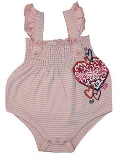 "Nohi Kids ""Heart"" Bloomer Bodysuit"