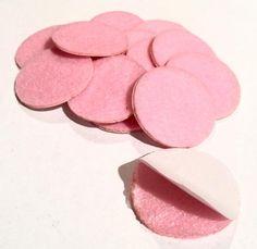 1.5 inch light pink ADHESIVE die cut felt circles. Hundreds of elastics, FOE, flowers, rhinestones, jewelry findings & more too!