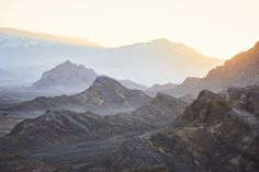 """Sunset as seen from the the Zoroastrian """"Towers of Silence"""" on two hilltops on the outskirts of Yazd."""