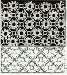 Captivating Crochet a Bodycon Dress Top Ideas. Dazzling Crochet a Bodycon Dress Top Ideas. Crochet Motifs, Crochet Diagram, Crochet Stitches Patterns, Crochet Chart, Lace Patterns, Thread Crochet, Filet Crochet, Irish Crochet, Knitting Stitches