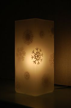 Snowflake Lamps with cricut