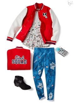 Outfit her individuality in oodles of doodles and girl squad style.