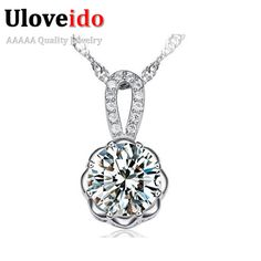Find More Pendants Information about Flower Necklaces & Pendants 925 Sterling Silver Fashion Necklaces for Women Crystal Necklace Chain Jewelry Jewellery Ulove JS600,High Quality necklace cords,China necklace spacer Suppliers, Cheap necklace apple from ULOVE Fashion Jewelry on Aliexpress.com