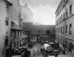 Friedrich Albert Schwartz, The courtyard of no. 97, Dresdener Straße, Luisenstadt, Berlin, Germany, ca. 1880.     Source: Prussian Heritage Foundation