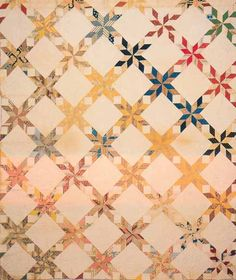 Pieced Star Quilt, 1854. Made by Marian S. Mich. Shenandoah Co, Virginia.