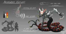 A Medusa grimm Rwby Oc, Team Rwby, Fantasy Monster, Monster Art, Creature Concept Art, Creature Design, Mythical Creatures Art, Fantasy Creatures, Character Concept