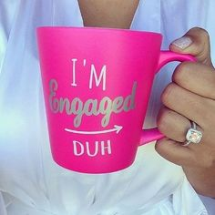 Tag someone who needs this mug. #IndyFacets #Engaged #Diamond #Ring #Indiana