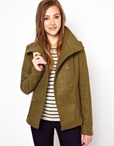 Image 1 ofVila Wool Mix Double Breasted Jacket