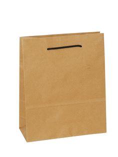 Brown Carrier Bag Rope Handle - Plain Brown