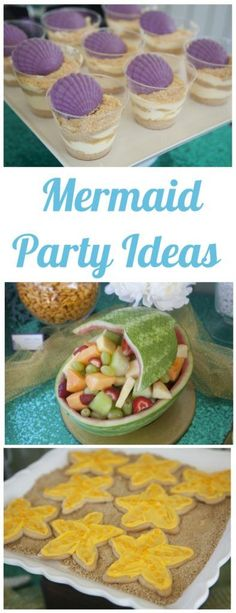 DIY Mermaid Party Ideas - DIY Inspired - - Pretty Blue and Green Party Decorations, Food, Favors and Other DIY Mermaid Party Ideas for a Birthday Styled by Courtney Jacques. Mermaid Party Food, Mermaid Theme Birthday, Little Mermaid Birthday, Little Mermaid Parties, Baby Girl Birthday, Birthday Party Themes, 7th Birthday, Birthday Ideas, Themed Parties