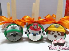 Paw Patrol Birthday Decorations, Cumple Paw Patrol, Chocolate Covered Apples, Chocolates, Cupcake Heaven, Paw Patrol Party, Cute Clay, Dessert Buffet, Party Desserts