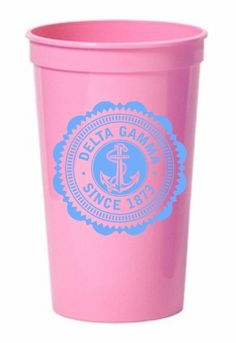Delta Gamma Old Style Classic Giant Plastic Cup SALE $1.90. - Greek Clothing and Merchandise - Greek Gear®