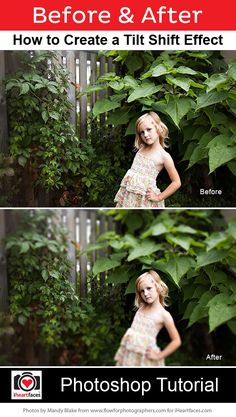 How to Create a Tilt Shift Selective Focus Effect in Photoshop  #iheartfaces #photography