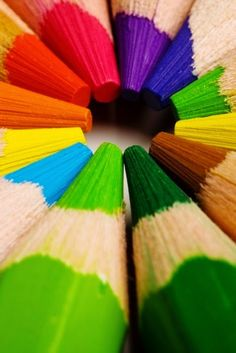 Rainbows: Pencil points.