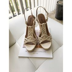 Lucky brand wedges Lucky brand cream color wedges! There are signs of wear. Lucky Brand Shoes Sandals