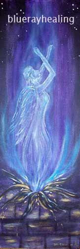 Visionary metaphysical artwork through Deb~Aurah Araznu. Freedom.