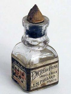 ink bottles antique | Antique ink bottle - Paris