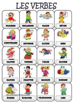 Il y a une feuille avec les verbes plus utilisés. - Fiches FLE