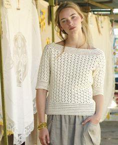 Free crochet pattern - Menorca by Marie Wallin in Rowan Siena 4 Ply: http://www.mcadirect.com/shop/rowan-siena-ply-100-cotton-p-2563.html: