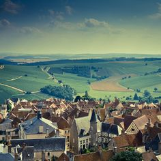 A scenic shot of small town Sancerre, France.