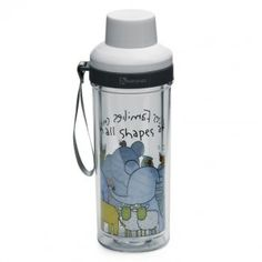 Sino glass travel bottle clear, white & grey
