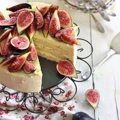 Iced Honey Mascarpone Cake with Fig