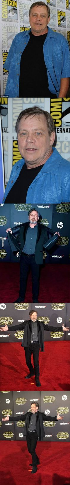 Mark Hamill's change from 2012 to 2015. Major props. - 9GAG