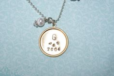 Family charm necklace by thecharmedwife on Etsy, $15.00