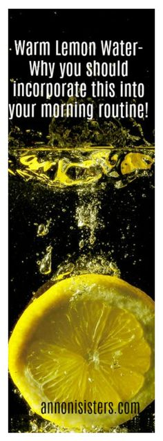 Warm lemon water - and why you should incorporate it in your morning routine! — Annoni Sisters
