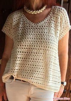 Очень давно нашла в интернете такой топ и очень он мне понравился, но не могу найти схему вязания. Можно, конечно, попробовать связать по фото, но может в СМ кто-то вязал такой?